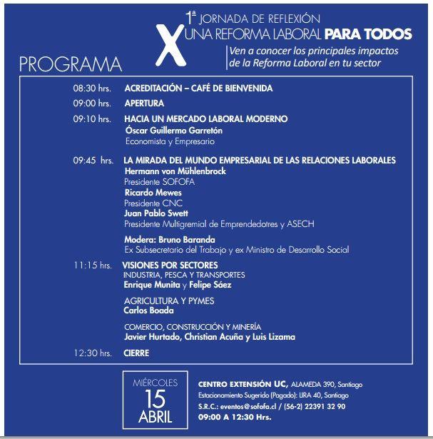 Programa Jornada Multigremial 15 abril  9 horas