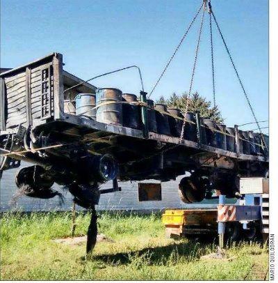 Camión uruguayo quemado